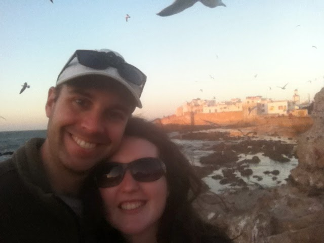 Cory and Sara in Essaouira, Morocco