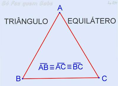 Triângulo Equilátero, tem todos os lados com medidas iguais.