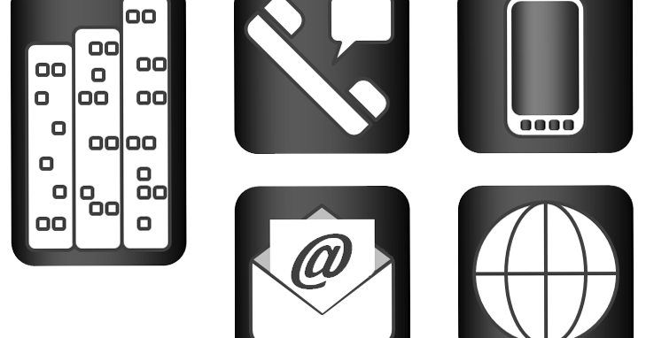 Passion And Will: Business Card Icons