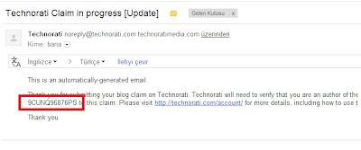 Technorati Blog Onaylatmak