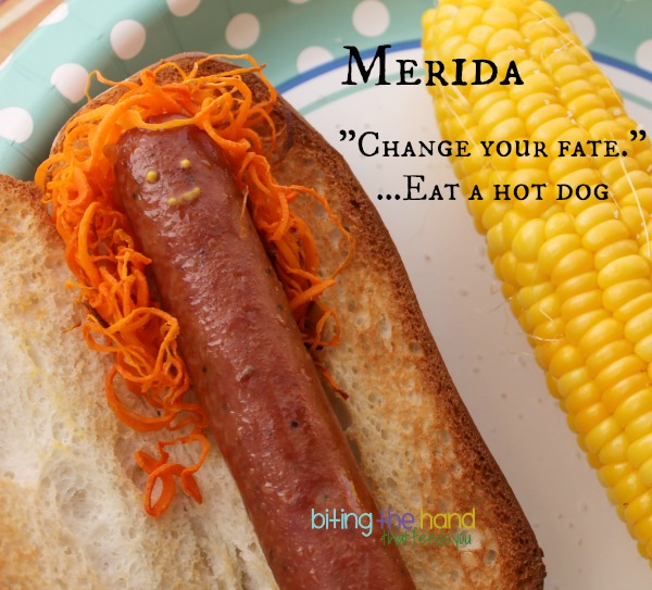 easy Brave Merida hot dog