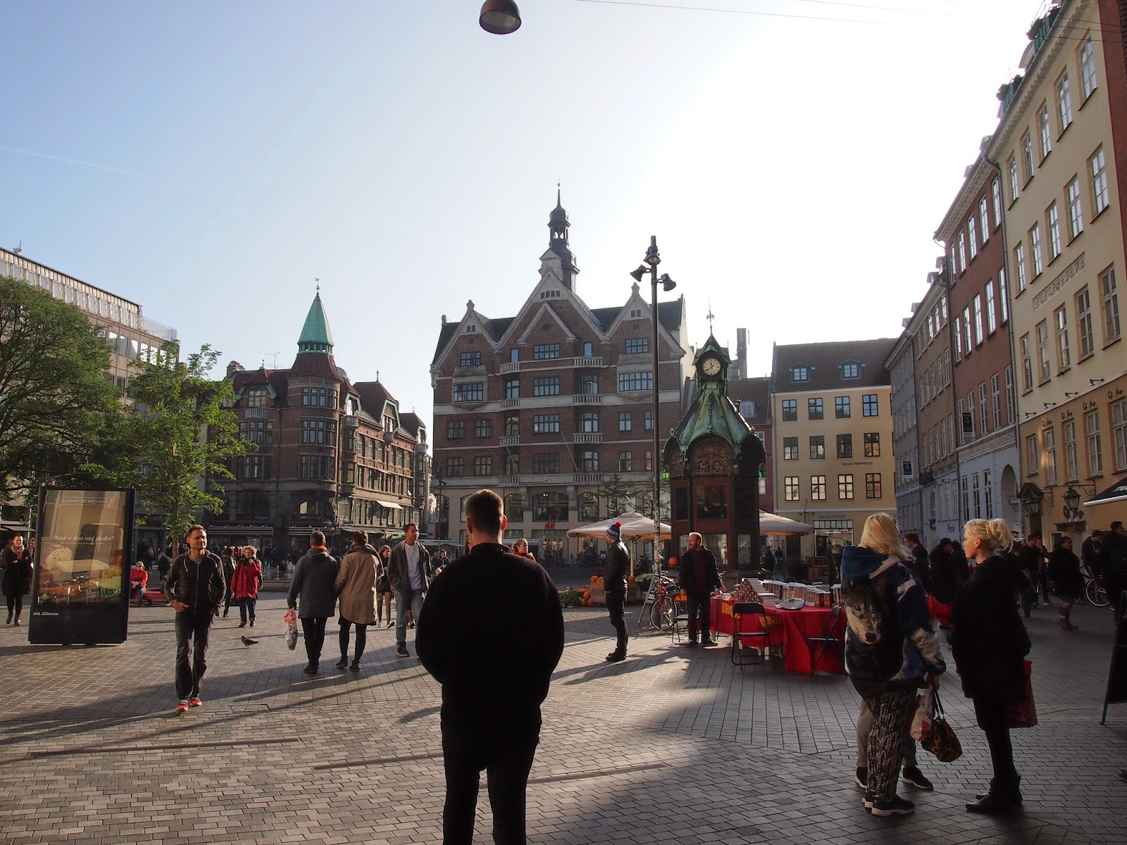 the shopping streets in Copenhagen