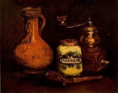 Gerra, molinet de cafè i estoig de pipa (Vincent van Gogh)