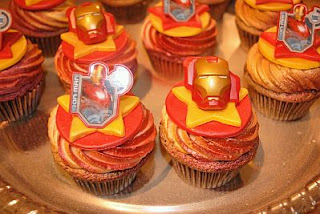 Cupcakes Iron Man, parte 1