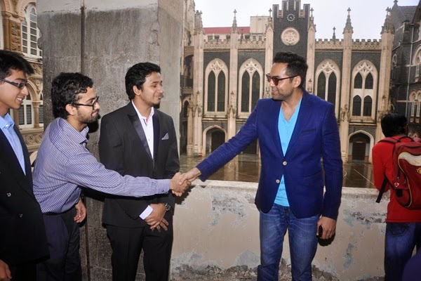 Abhay Deol at the launch of Xavier's College festival Malhar 2014