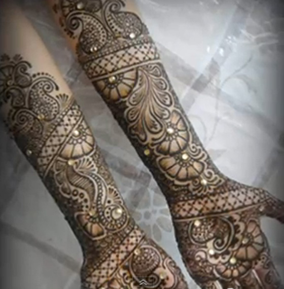 Mehndi Traditional Designs : Mehndi design traditional makedes