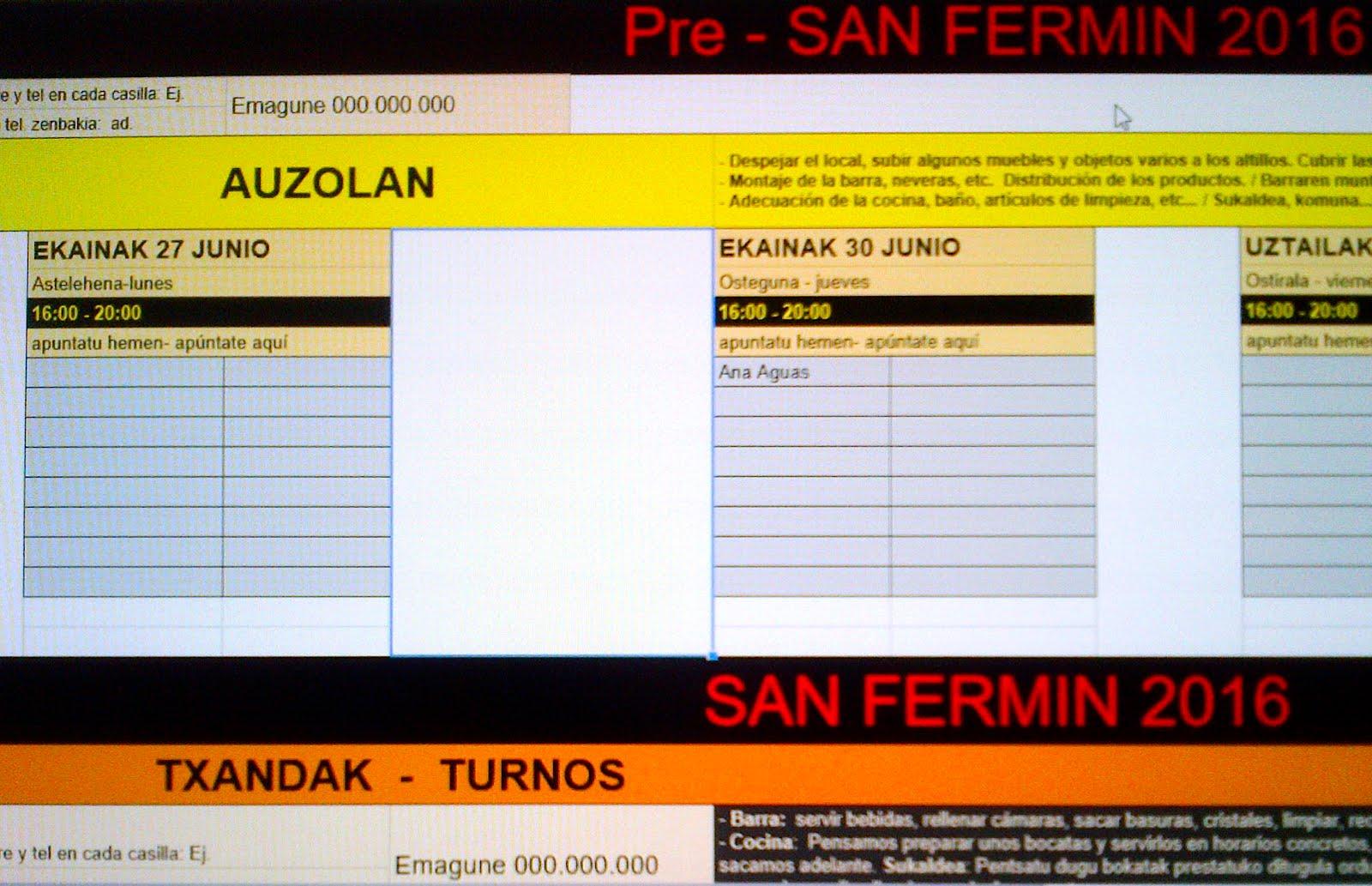 SF 2016 TXANDAK-TURNOS