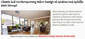 Classic but Contemporary Salon Design at Andrea and Achille Hair Group!