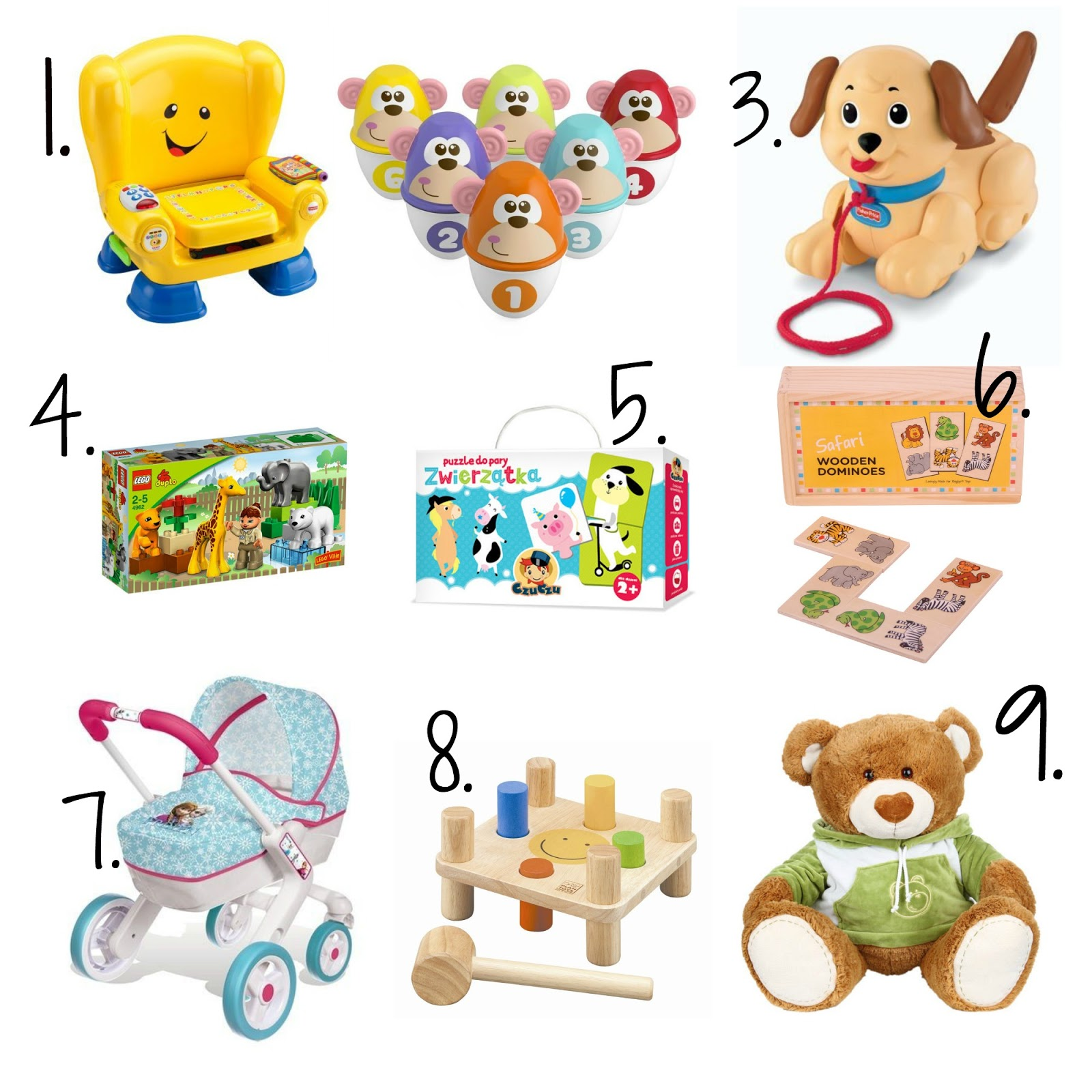 fisher price, chicco, lego, czu czu, smoby, Bigjigs toys,