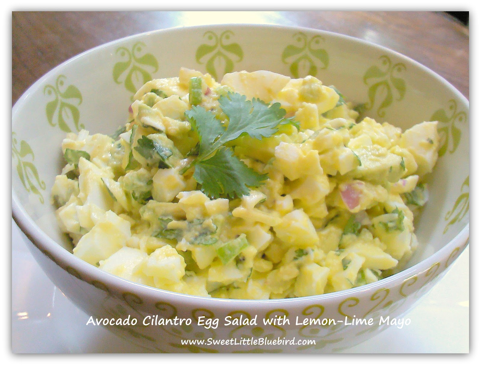 Sweet Little Bluebird: Avocado Cilantro Egg Salad with Lemon-Lime Mayo