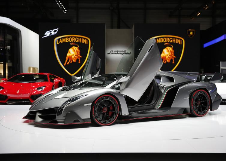 The Lamborghini Venenos Automobile, Produced By Automobili Lamborghini SpA,  On Display On The First Day