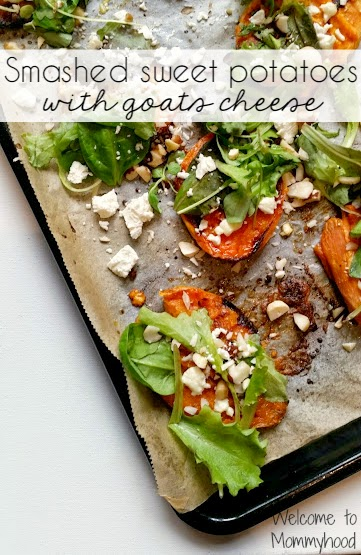 Easy, healthy recipes: smashed sweet potatoes with goat cheese ...