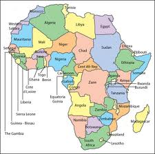 Map of Africa Country Regional Political