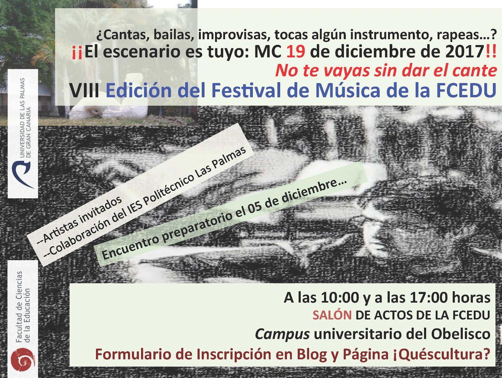 VIII FESTIVAL DE MÚSICA