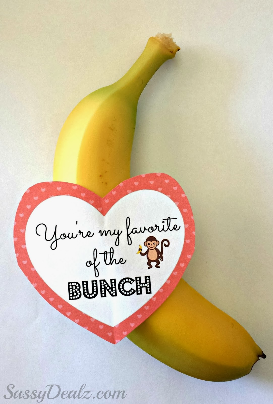 non-candy valentines day banana gift