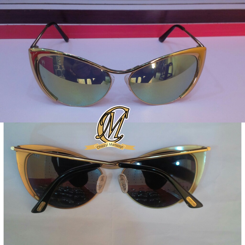 928ec90eafa5 Photo  Tomford gold frame cat glasses. Now available   Chizzyl Manizzyl  Concepts ...
