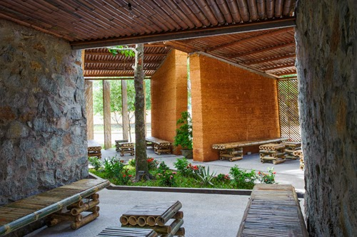 The BES (Bamboo + Earth + Stone) Pavilion by H&P Architects