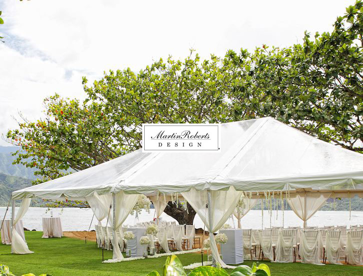 We had to go to the backup plan which involved a clear top tent. We quickly went into action and draped the poles with flowy ivory chiffon that went ... & MartinRoberts Design: Jen and Seanu0027s Wedding