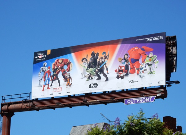 Disney Infinity 3.0 Marvel Star Wars Disney billboard