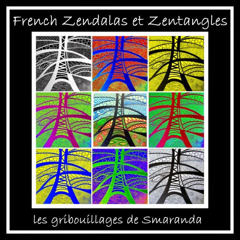 French Zendalas & Zentangles