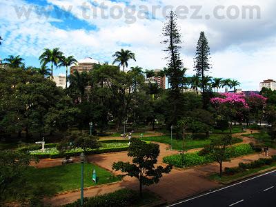 Vista parcial da Praça da Liberdade, em Belo Horizonte - Minas Gerais