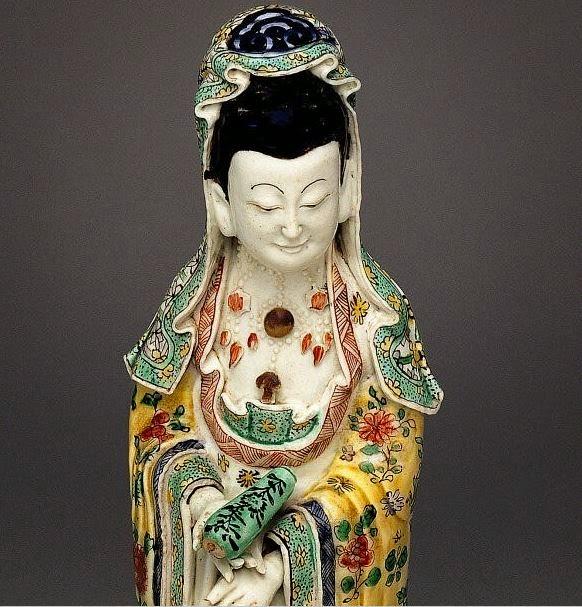 """<img src=""""Kwan-yin Biscuit figure .jpg"""" alt=""""18th C. Famille verte enamels"""">"""