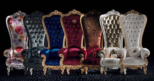 These Exquisite Chairs Were Designed By The Italian Furniture Company  Caspani. The Chairs Look Like A Throne,there By Making You Feel Like King.