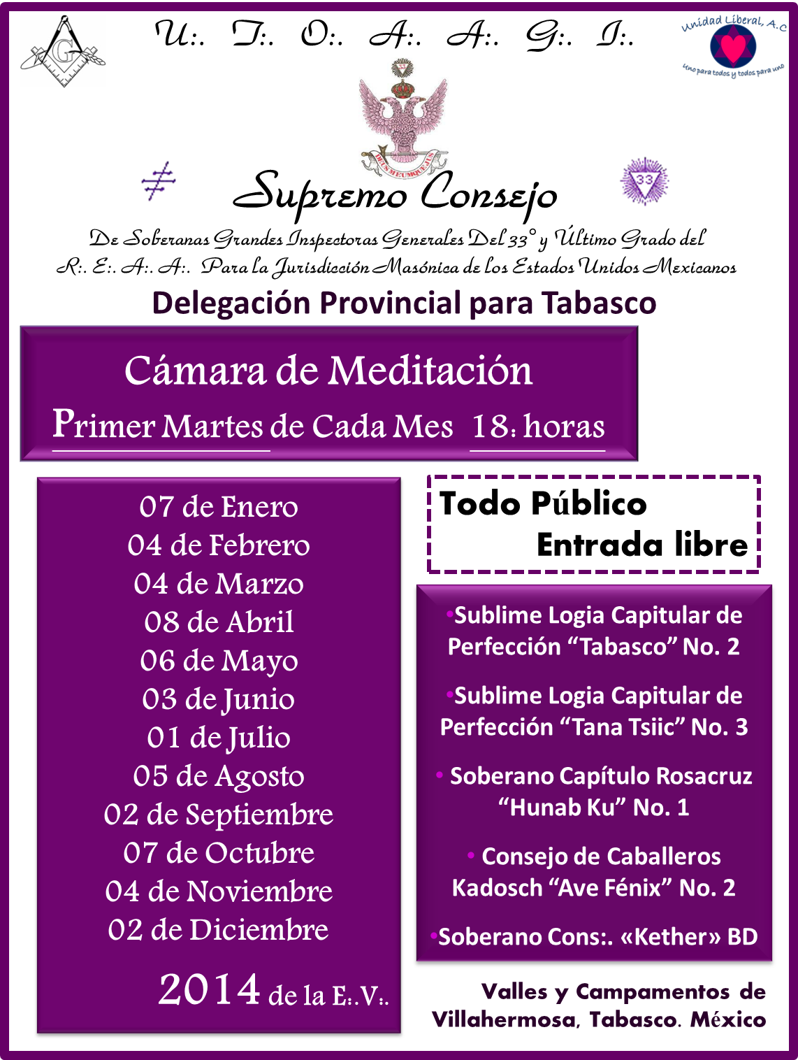 MEDITACIONES MENSUALES 2014