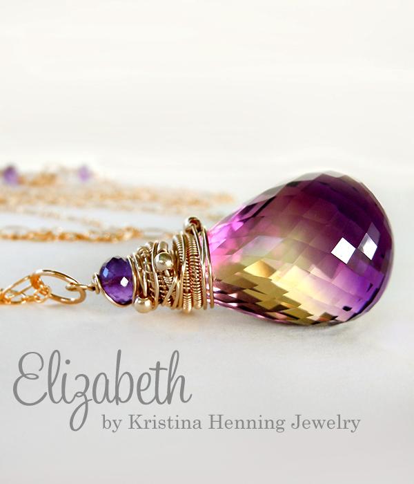 Kristina henning elizabeth necklace ametrine