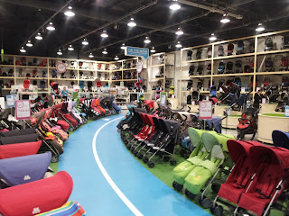 hundreds of pushchairs, pushchairs to test, kiddicare lakeside