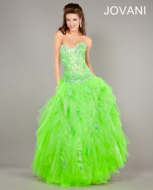 Neon Lime Green Prom Dresses