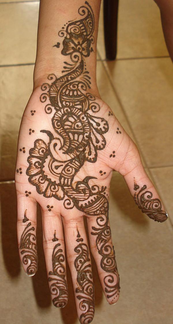 Elegant Bridal Mehndi Designs : Mehndi design elegant makedes