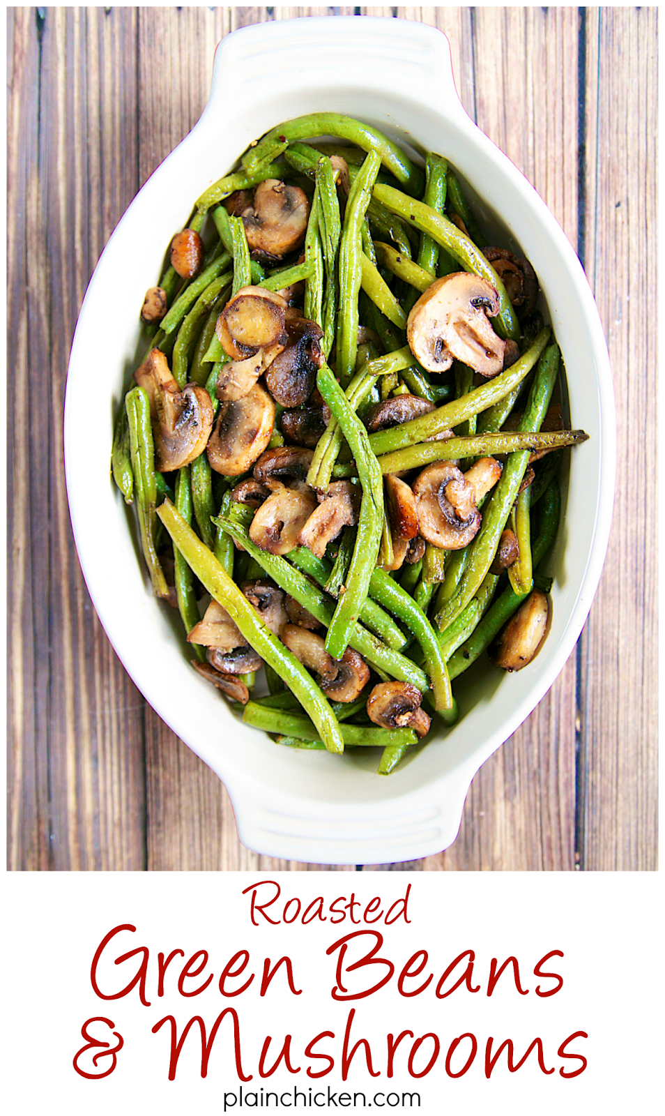 Roasted Green Beans and Mushrooms Recipe - fresh green beans and ...