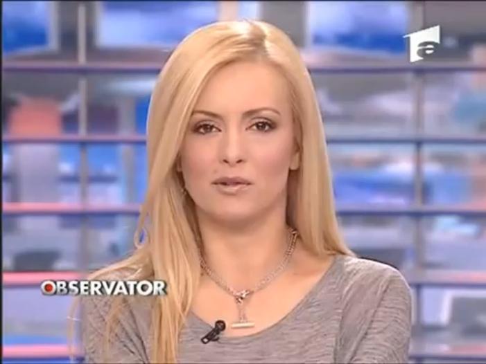 Simona Gherghe very very hot newscaster of Romania
