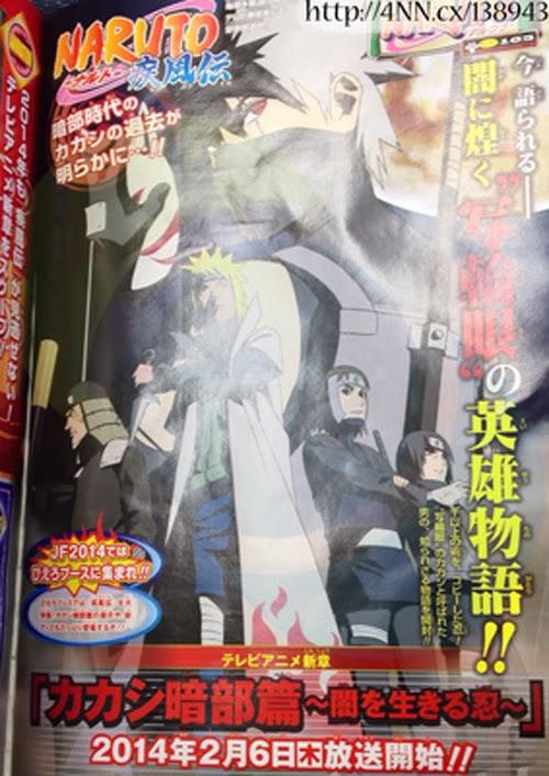 Kakashi Anbu Hen - Yami o Ikiru Shinobu, Chapitre Kakashi Anbu - Le shinobi qui vit dans l'ombre, Studio Pierrot, Actu Japanime, Japanime, Naruto Shippuden, Jump Festa 2014,