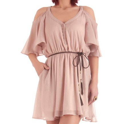 Glimmer of Taupe Dress