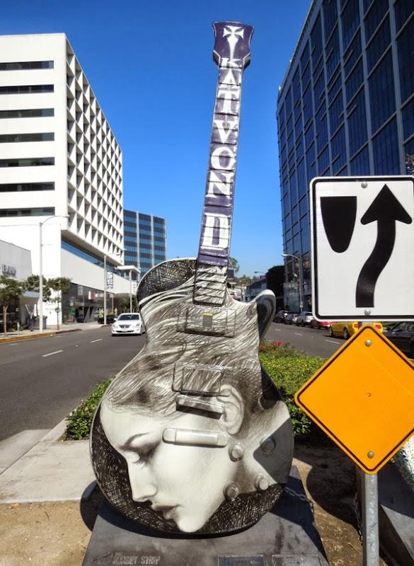 City of Angels guitar sculpture Kat Von D
