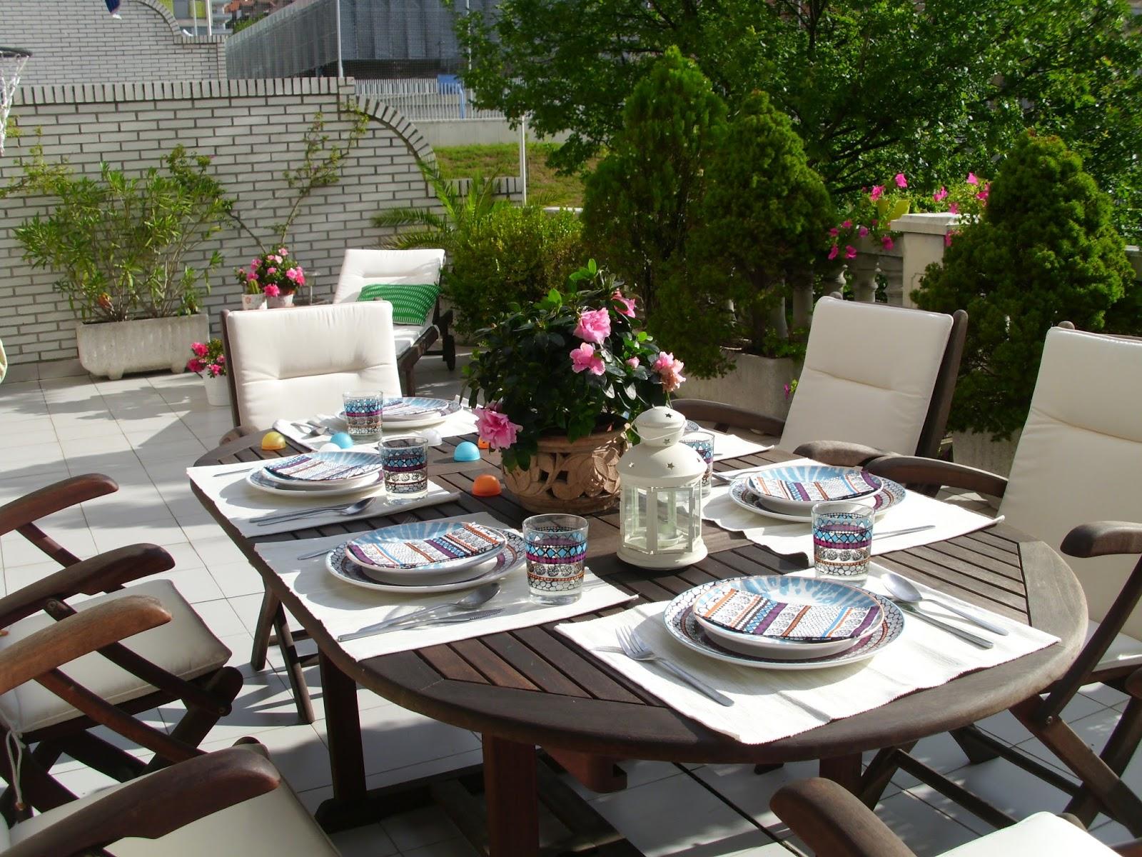 Decoraci n f cil mi terraza en la casa del a o for Comedor para terraza