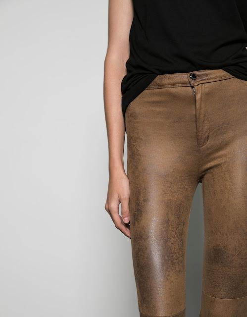 pantalon daim bershka
