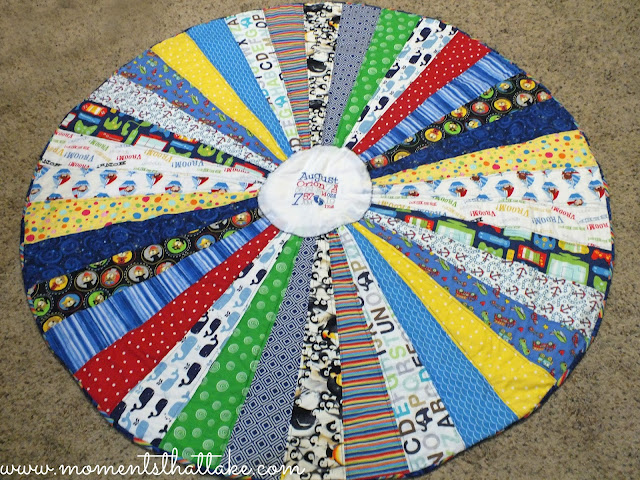 Baby Statistics Birth Announcement Quilt