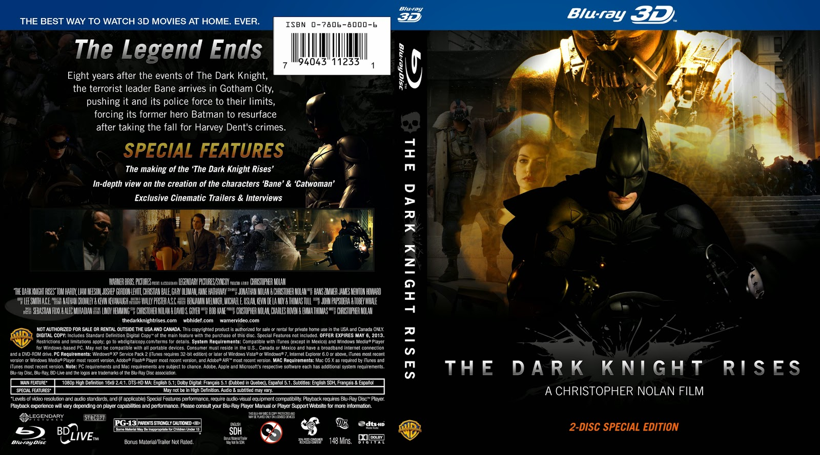 Capa Bluray The Dark Knight Rises