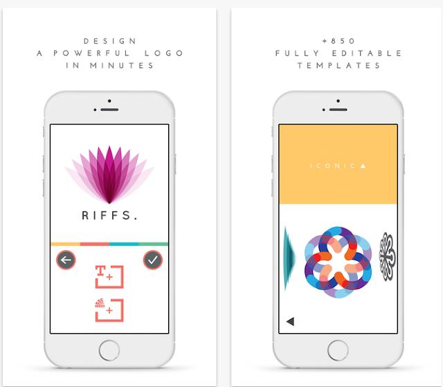 تطبيق تصميم شعار Logo احترافي في هواتف آيفون