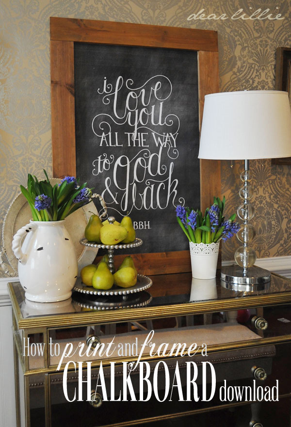 how to download print and frame a chalkboard chalkboard download tutorial