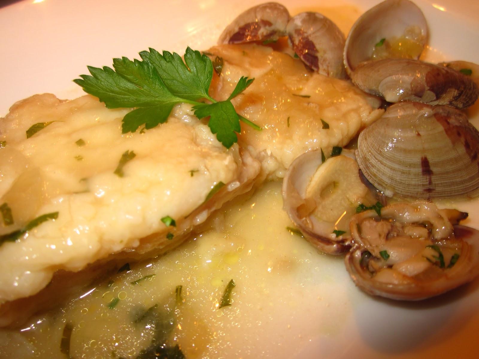 la cocina de ori bacalao fresco a la sidra con almejas
