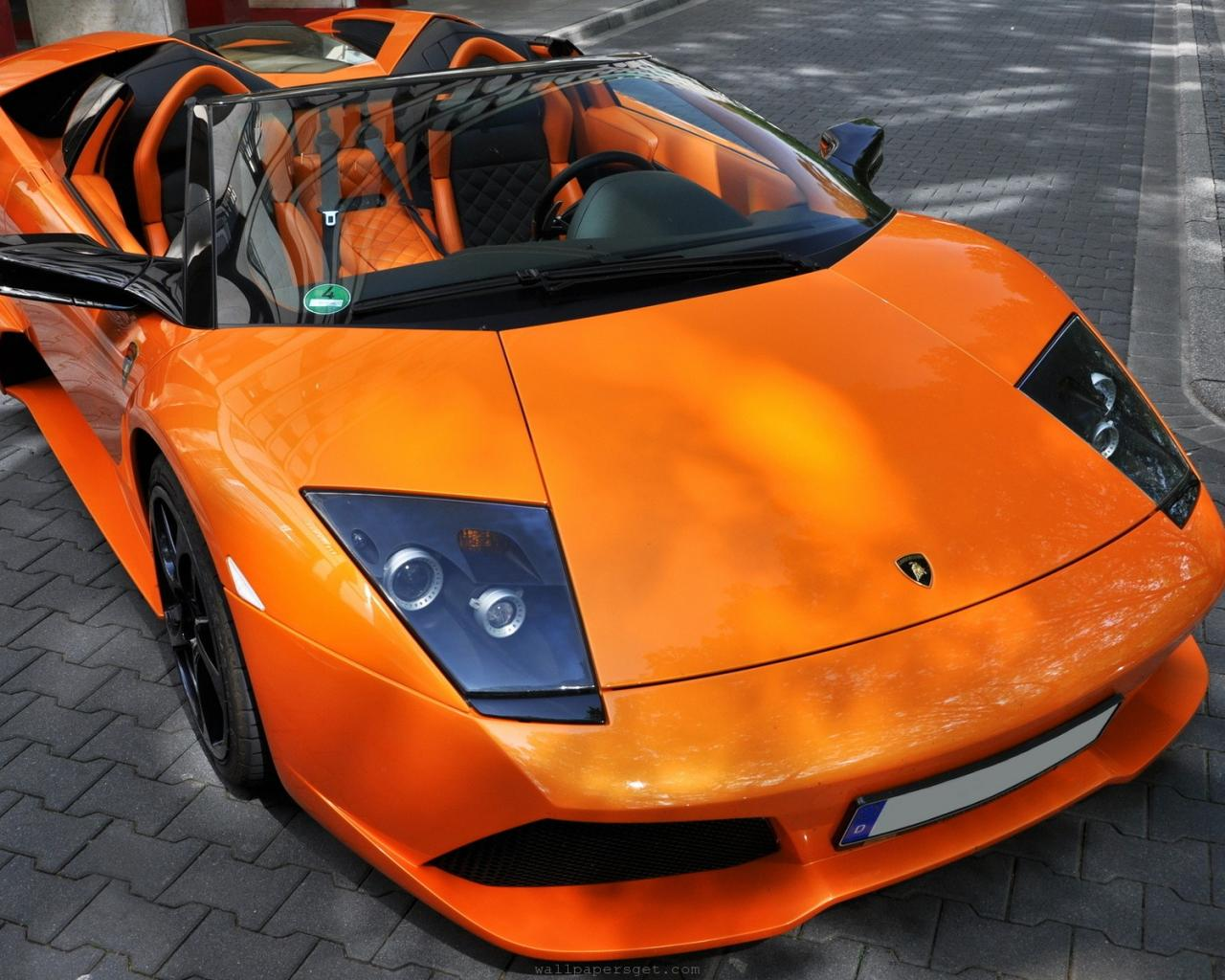 Luxury Lamborghini Cars: Orange Lamborghini Murcielago ...