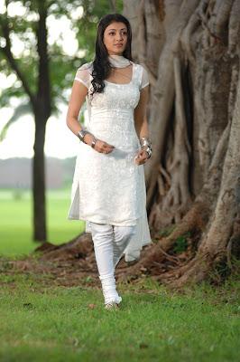 kajal agarwal in white salwar unseen pics