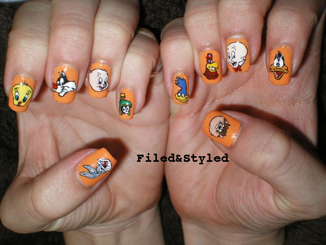 looney tunes nails