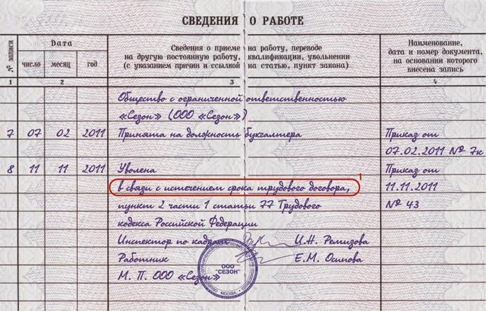 Срочный трудовой договор трудовая книжка исправить кредитную историю Феодосийская улица