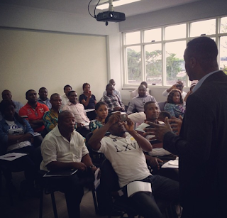 Peter Okoye gives lecture on entreprenuership to CBN staff