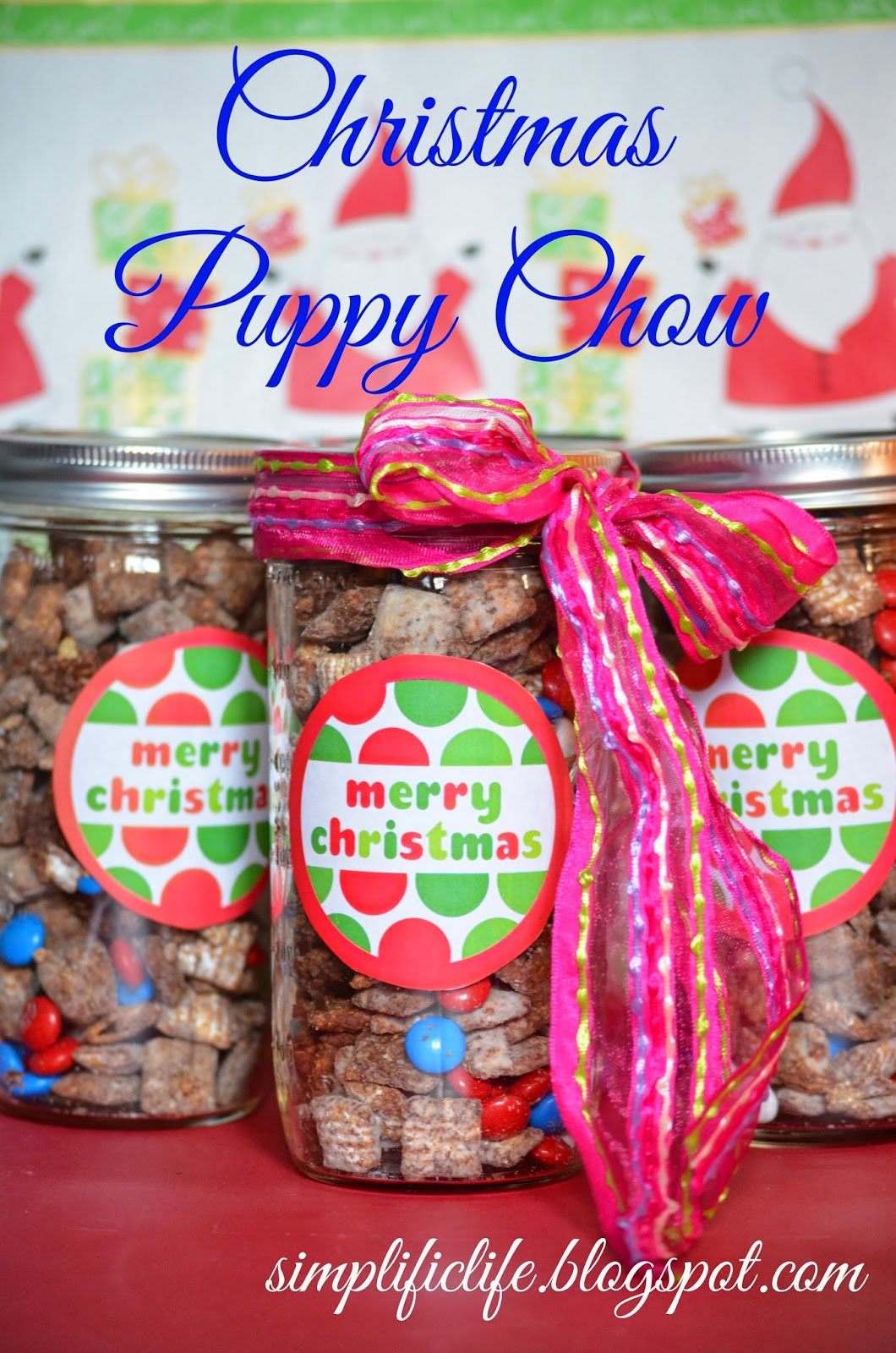 christmas puppy chow - Christmas Puppy Chow